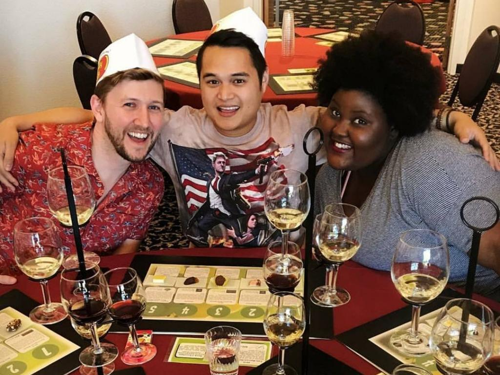 Friends enjoy the Wine and Chocolate Experience at Jelly Belly. Photo by IGer @jurassicjonn