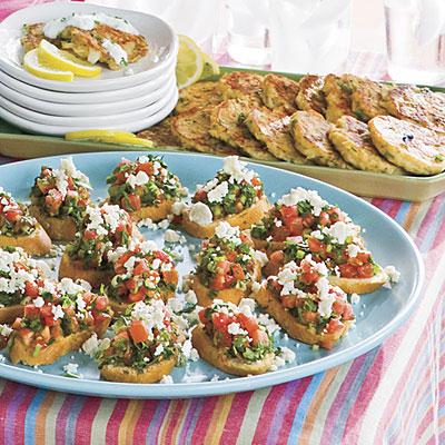 Herb Tomato Crostini