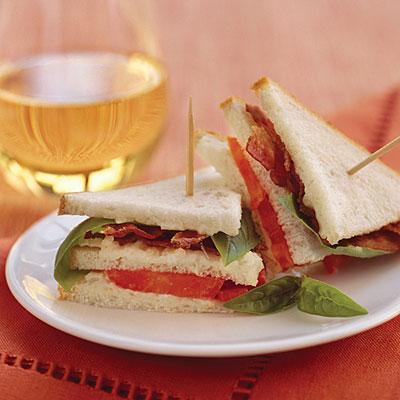 Mini BBT - Bacon, Basil & Tomato Sandwich