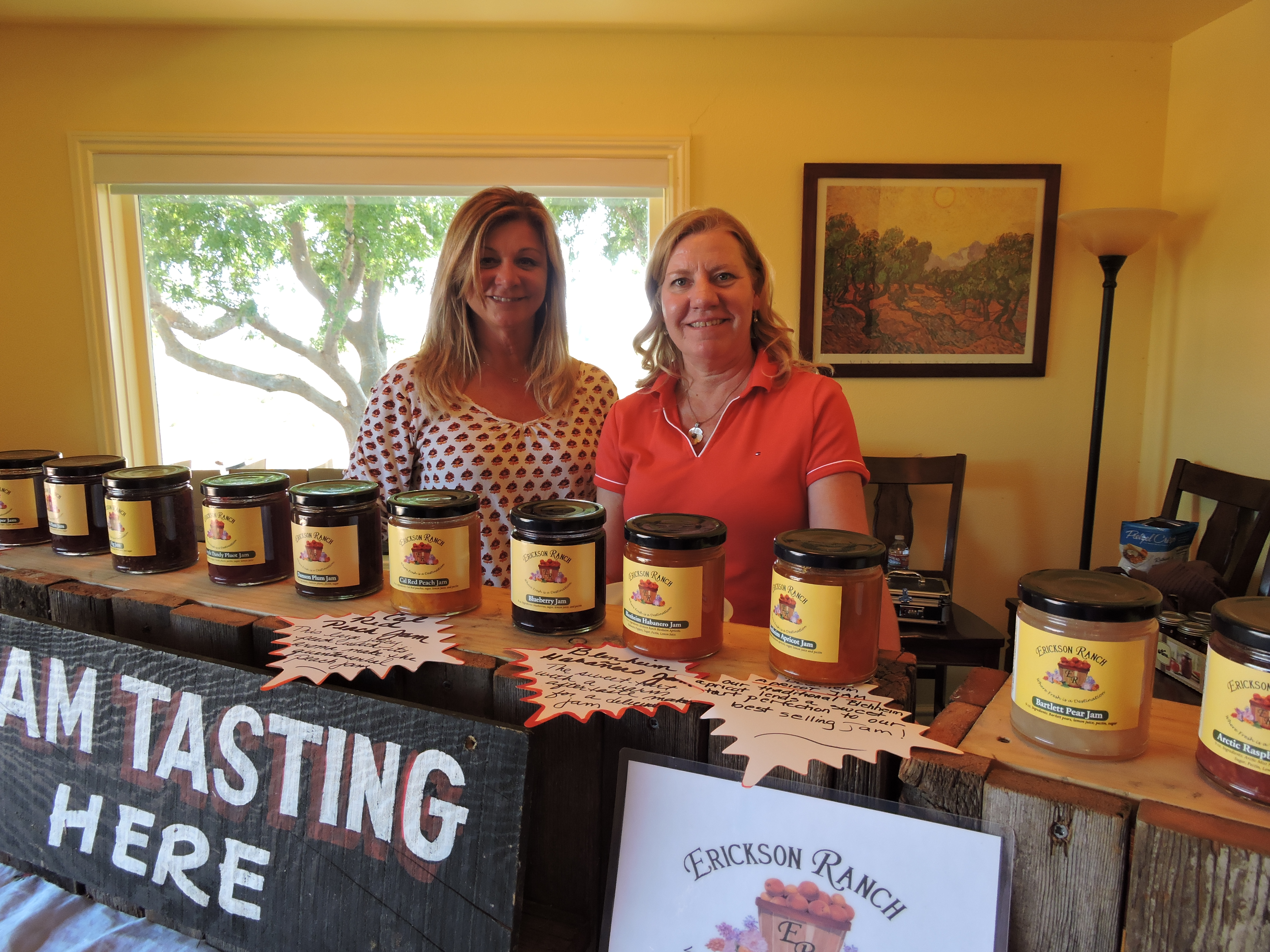 What's your favorite flavor of Erickson Ranch jam? The popular Suisun Valley farm provided samples of their famous jam at Il Fiorello Olive Oil Company.