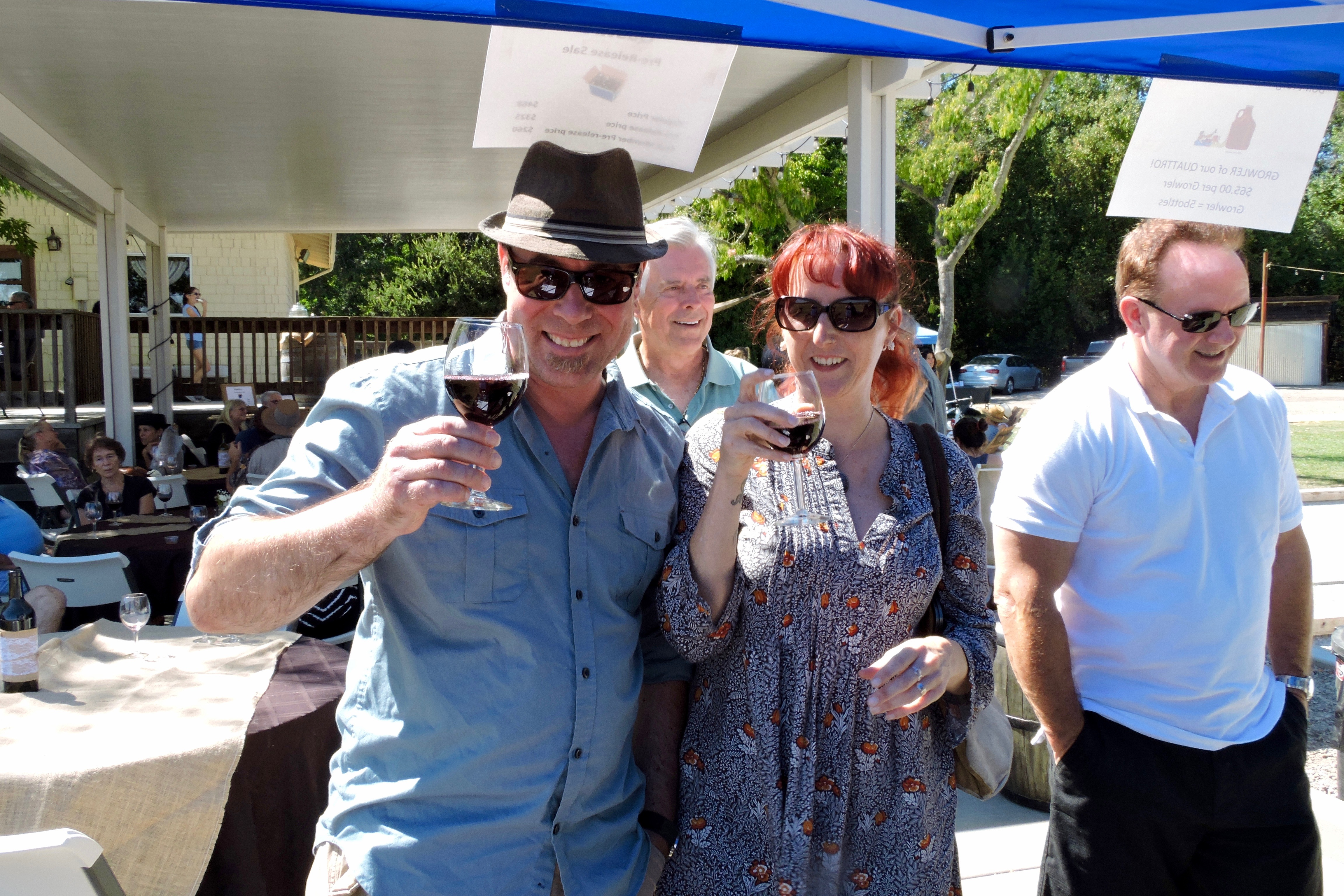 Wine tasting, bocce ball and live music were featured at BackRoad Vines.