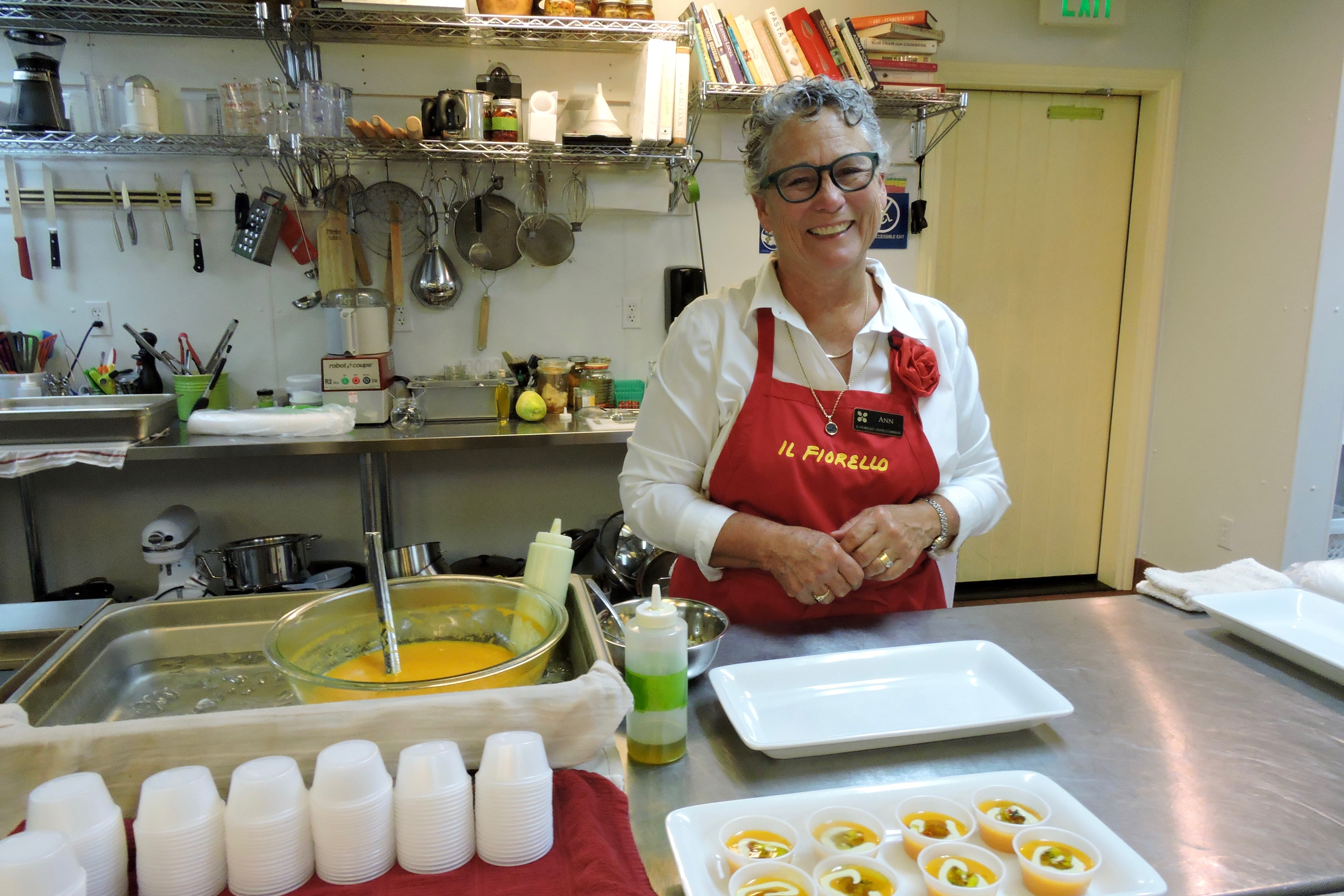 Ann Sievers, owner of Il Fiorello, greeted guests with a smile and a delicious treat.